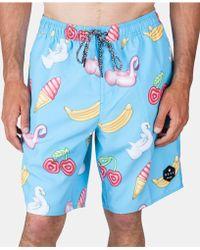 555c10e22a Neff Tropical Jungle Swim Trunks in Blue for Men - Lyst