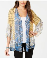 Style & Co. - Printed Open-front Kimono, Created For Macy's - Lyst