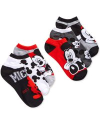 Disney - Women's Mickey Mouse Stripes No Show 6-pk. Socks - Lyst