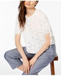 JILL Jill Stuart - Cotton Eyelet Top, Created For Macy's - Lyst
