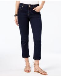 INC International Concepts - Cropped Straight-leg Jeans - Lyst