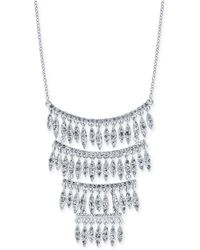 "INC International Concepts - I.n.c. Silver-tone Crystal Statement Necklace, 15"" + 3"" Extender, Created For Macy's - Lyst"