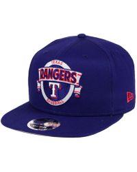 KTZ - Texas Rangers Banner 9fifty Snapback Cap - Lyst