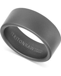 Triton - Men's Wide Band In Tungsten - Lyst