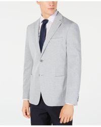 Calvin Klein - Slim-fit Stretch Gray Stripe Knit Sport Coat - Lyst