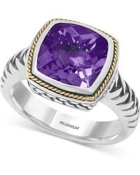 Effy Collection - Amethyst Ring (4 Ct. T.w.) In 18k Gold And Sterling Silver - Lyst