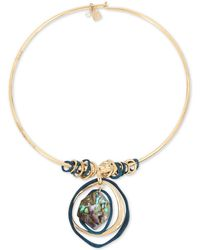 """Robert Lee Morris - Gold-tone Abalone-look Wire 17"""" Pendant Necklace - Lyst"""