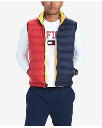 Tommy Hilfiger - Valero Reversible Colorblocked Down Puffer Vest, Created For Macy's - Lyst