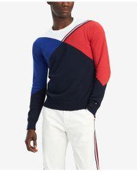 389d7f1e889d Lyst - Tommy Hilfiger Adler Shawl Collar Sweater in Blue for Men