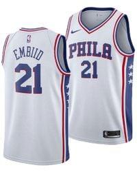 40c8ecb5d Nike - Joel Embiid Philadelphia 76ers Association Swingman Jersey - Lyst