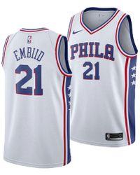 quality design 93329 0ca09 Joel Embiid Philadelphia 76ers Association Swingman Jersey