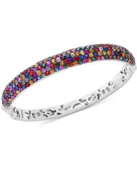 Effy Collection - Multicolor Sapphire Bangle Bracelet (10-1/2 Ct. T.w.) In Sterling Silver - Lyst