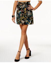 eef1e36c2 INC International Concepts - Printed Ottoman-knit Mini Skirt - Lyst