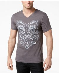 INC International Concepts - Graphic-print V-neck T-shirt, Created For Macy's - Lyst