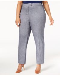 Anne Klein - Plus Size Straight-leg Ankle Pants - Lyst