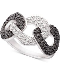 Wrapped in Love - Tm Diamond Large Statement Ring (1 Ct. T.w.) In 14k White Gold, Created For Macy's - Lyst