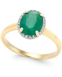 Macy's - Emerald (1-3/4 Ct. T.w.) And Diamond Accent Ring In 14k Gold - Lyst