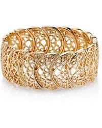 2028 - Rose Gold Tone Half Circle Filigree Bracelet - Lyst