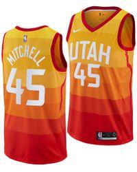 909fdc767488 Lyst - Nike Donovan Mitchell Utah Jazz Hardwood Classic Swingman ...