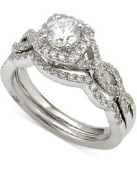 Marchesa - Certified Diamond Bridal Set (2 Ct. T.w.) In 18k White Gold - Lyst