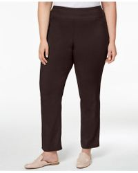 Charter Club - Petite Plus Size Cambridge Tummy-control Pull-on Trousers, Created For Macy's - Lyst
