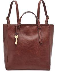 9e1929ca35e6 Fossil - Camilla Convertible Leather Backpack - Lyst