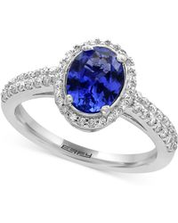 Effy Collection - Tanzanite (1-1/8 Ct. T.w.) And Diamond (1/3 Ct. T.w.) Ring In 14k White Gold - Lyst