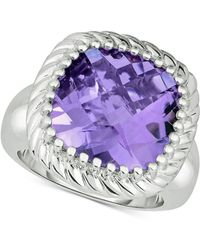 Macy's - Amethyst Statement Ring (10 Ct. T.w.) In Sterling Silver - Lyst