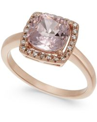 Charter Club - Rose Gold-tone Crystal Square Halo Ring, Created For Macy's - Lyst