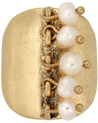 Lucky Brand - Gold-tone Shaky Imitation Pearl Ring - Lyst