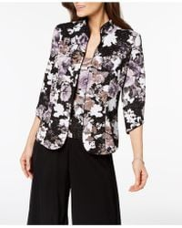 Alex Evenings - Metallic Floral-print Jacket & Shell, Regular & Petite Sizes - Lyst