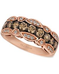 Le Vian | Chocolate And White Diamond Band (1-1/8 Ct. T.w.) In 14k Rose Gold | Lyst
