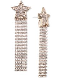 Givenchy - Gold-tone Crystal Shooting Star Front-and-back Earrings - Lyst