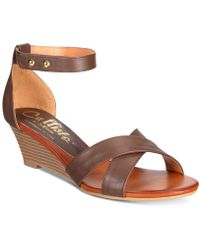 Callisto - Kallie Wedge Sandals - Lyst