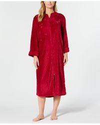 Miss Elaine - Fleece Long Zip Robe - Lyst