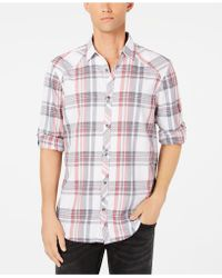 INC International Concepts - Marc Plaid Shirt, Created For Macy's - Lyst