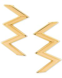Macy's - Zigzag Stud Earrings In 10k Gold - Lyst