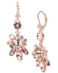 Marchesa - Crystal Cluster Drop Earrings - Lyst