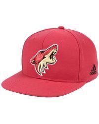reputable site e64c9 46641 adidas - Arizona Coyotes Core Snapback Cap - Lyst
