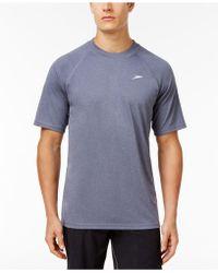 Speedo - Men's Crew-neck Heathered Swim T-shirt - Lyst