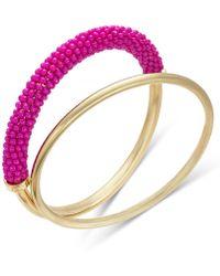 INC International Concepts - Trina Turk X I.n.c. Gold-tone 2-pc. Set Classic & Beaded Bangle Bracelets, Created For Macy's - Lyst