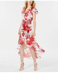 Julia Jordan - High/low Floral Wrap Dress - Lyst