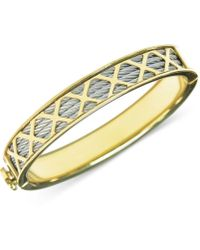 Charriol | Womens Stainless Steel Pvd Yellow Gold-tone Multi-x Cable Bangle Bracelet | Lyst