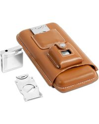 Bey-berk - Leather Three Cigar Holder Set - Lyst