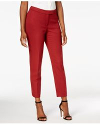 Anne Klein - Twill Slim-leg Pants, Created For Macy's - Lyst