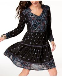 Style & Co. - Printed Ruffle-hem Dress, Created For Macy's - Lyst