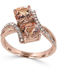 Effy Collection - Morganite (1-9/10 Ct. T.w.) And Diamond (1/6 Ct. T.w.) Ring In 14k Rose Gold - Lyst