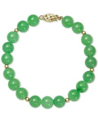 Macy's - Dyed Jade (8mm) Beaded Bracelet In 14k Gold - Lyst