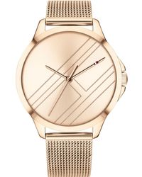 Tommy Hilfiger - Carnation Gold-tone Mesh Bracelet Watch 38mm Created For Macy's - Lyst
