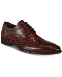 Mezlan - Tone Perforated Lace-up Shoes - Lyst